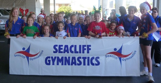 Gymnastics Group with banner