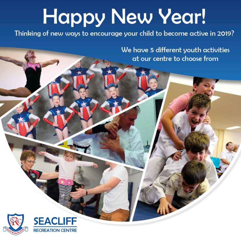 Seacliff Recreation Centre wish you a Happy New Year for 2019!