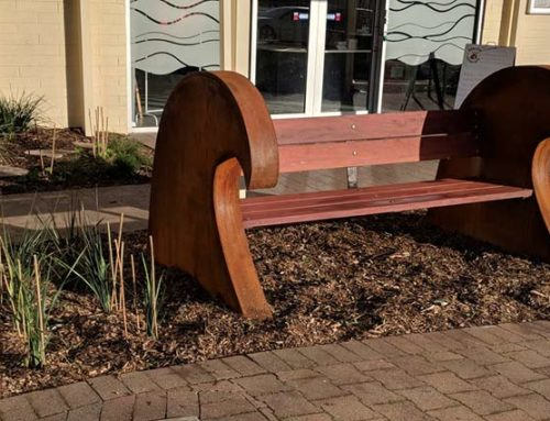 Bench install at Centre