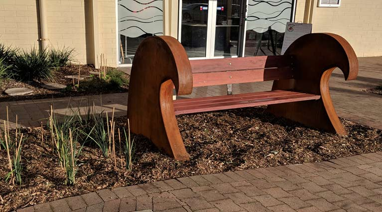 Seacliff Recreation Centre - new bench