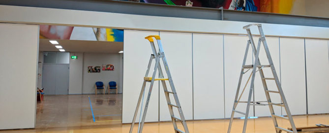 Seacliff Recreation Centre - new partition wall project - day 5