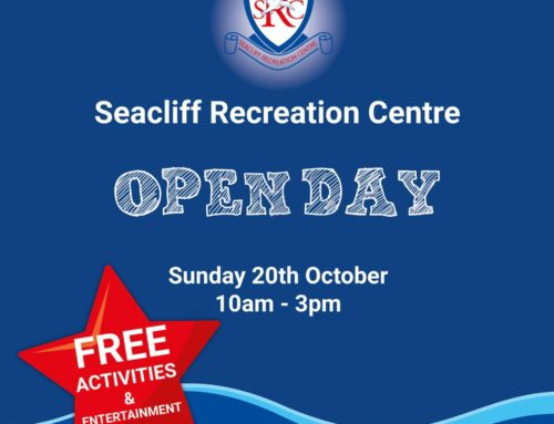 Event news – Seacliff Recreation Centre Open day – 20th October 2019