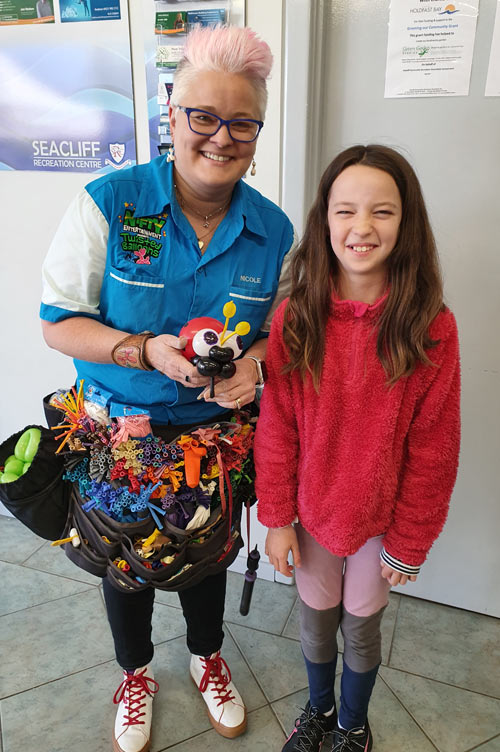 Seacliff Recreation Centre - Open Day - Nicole - Twisted Balloons creation!