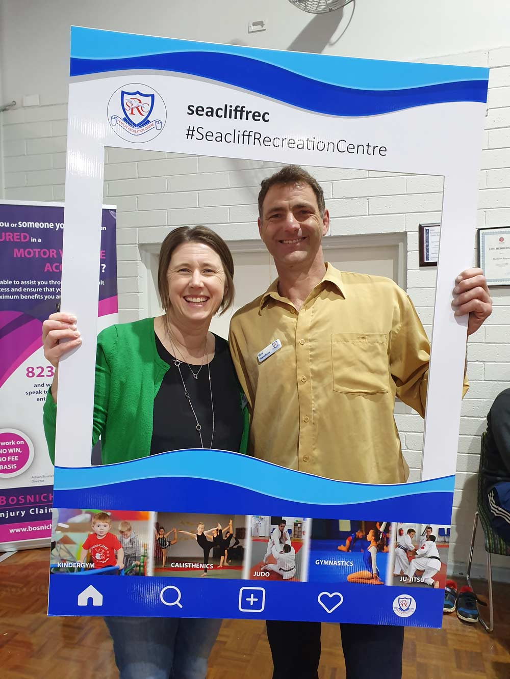Seacliff Recreation Centre - Open Day - President and Vice President