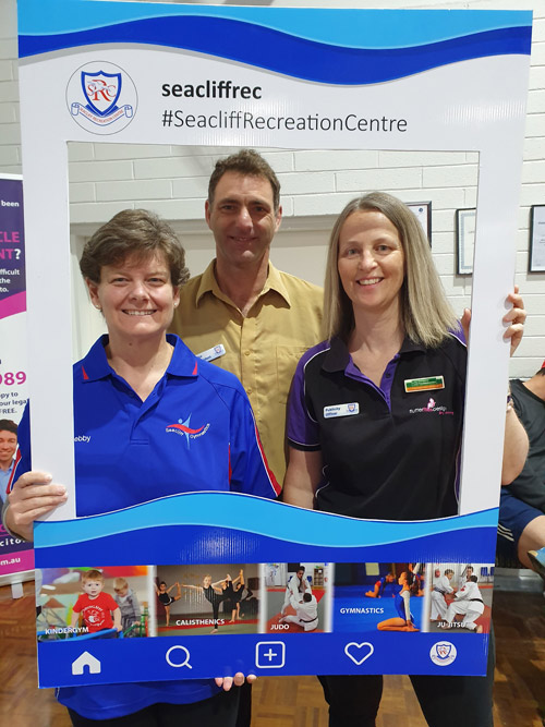 Seacliff Recreation Centre - Open Day - Gymnastics, Vice President and Flutterflies Design (Centre sponsor)