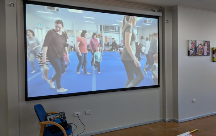 Seacliff Recreation Centre - Projector and screen installed