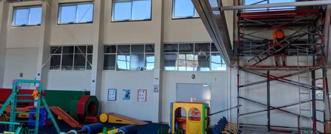 Seacliff Recreation Centre - Silverscreen roller blind install