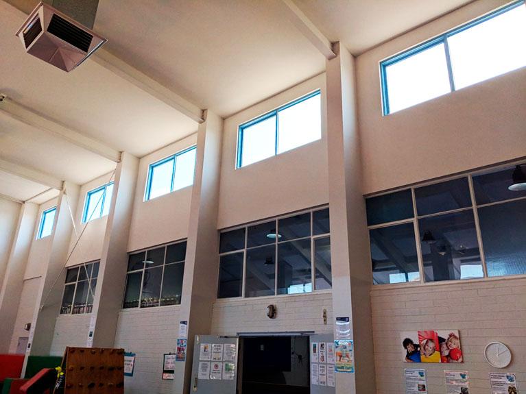 Seacliff Recreation Centre - windows BEFORE