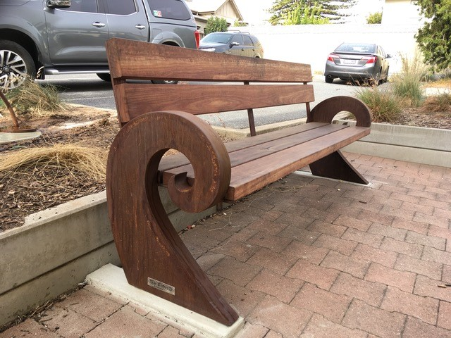 new bench at the centre